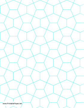 Printable One Inch Pentagon Graph Paper