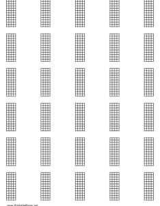 Chord chart for string instrument frets on letter sized paper also music rh printablepaper