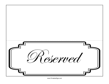 Reserved Table Sign Template Word Brokeasshome Com