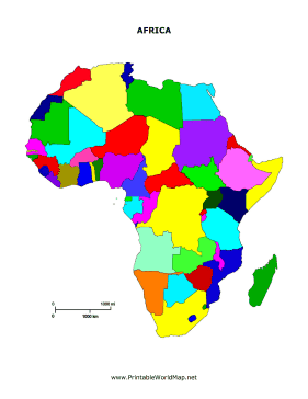 Printable Africa map for Kids