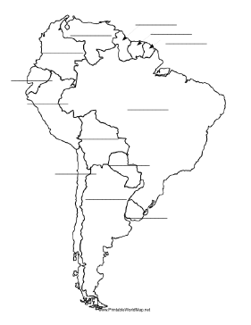 South America fill-in map