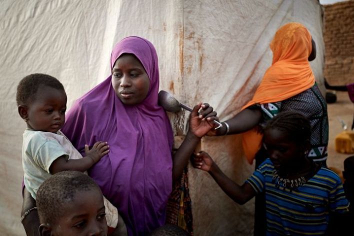 Displaced people in Mali