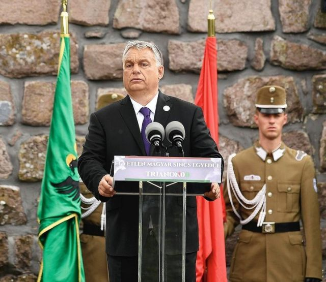 "Hungarian Prime Minister Viktor Orbán: ""No reason for appeasement."""