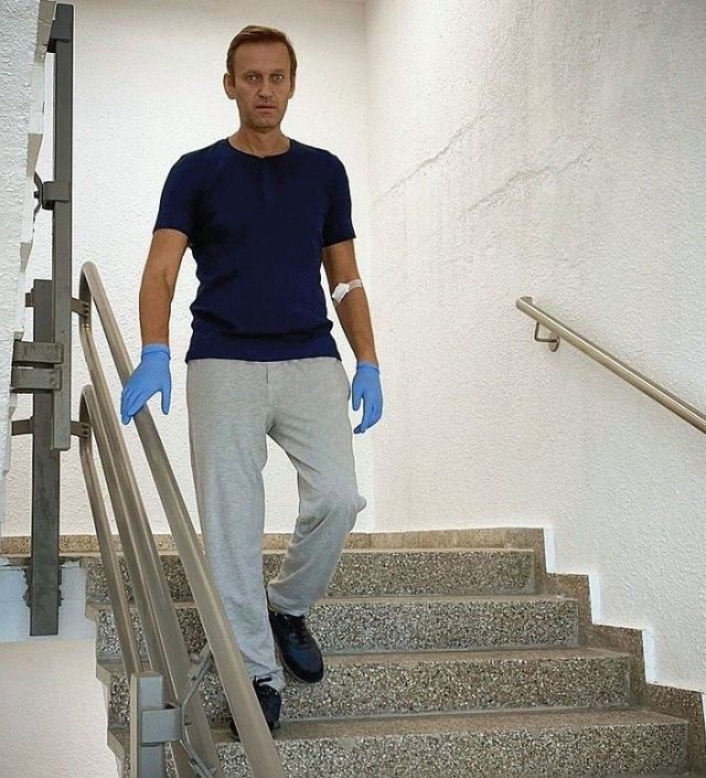 He also posted an image of himself as he practiced walking up and down stairs.