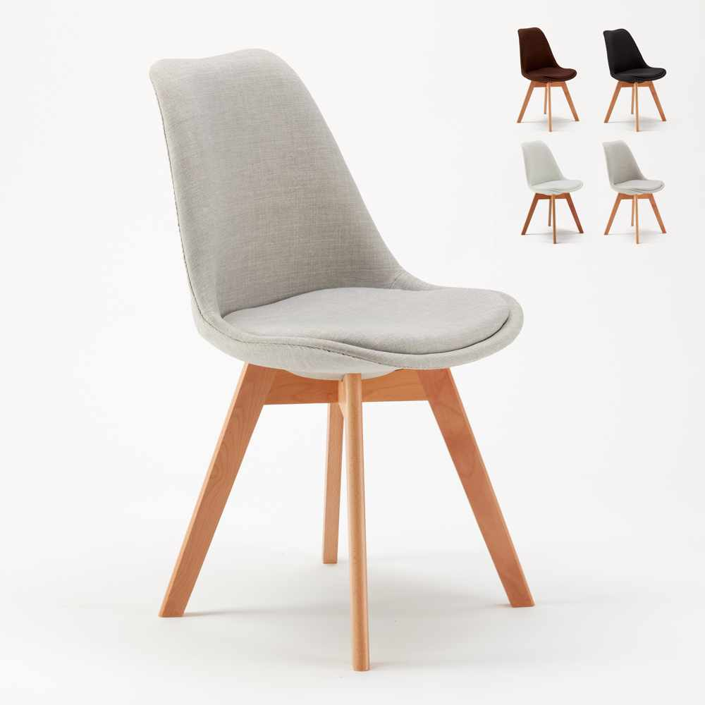 lot de 20 chaises et coussin tissu design scandinave tulip nordica plus