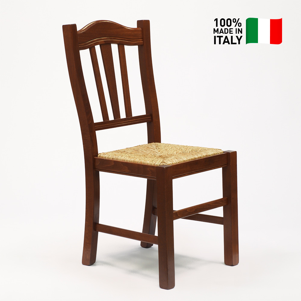 chaise en bois avec assise en paille pour salon et salle a manger silvana paglia