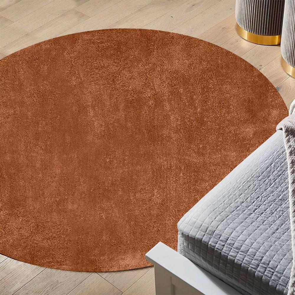 tapis rond antistatique antistatique moderne pour la conception de salon milano ava101td