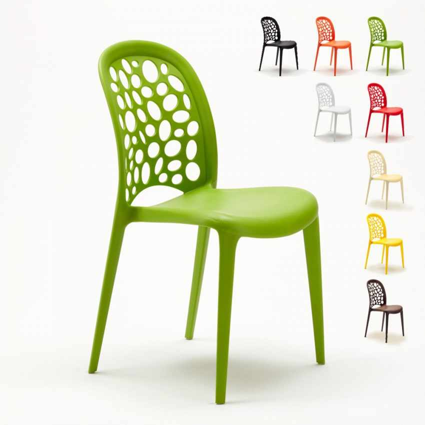 chaise polypropylene empilable salon restaurant wedding holes messina