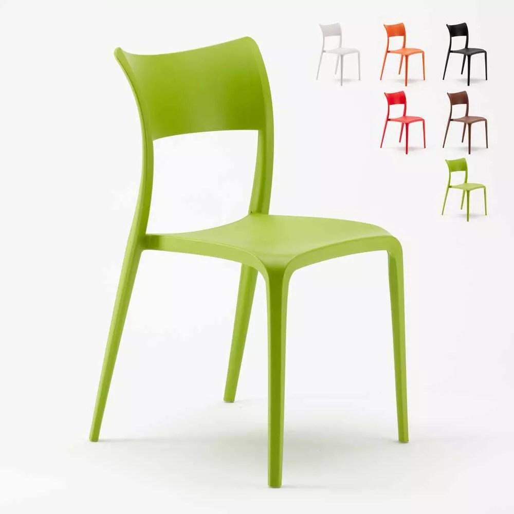chaise polypropylene de salle a manger restaurant et jardin parisienne