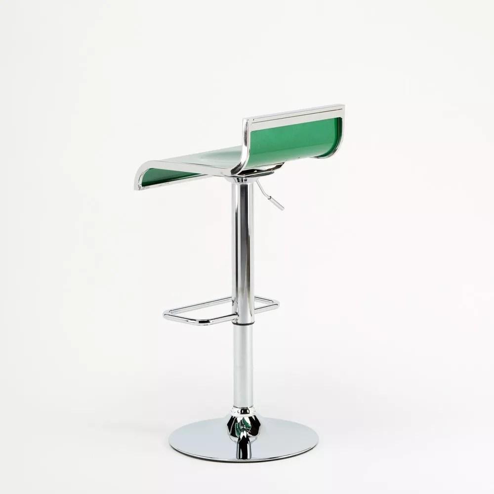 tabouret pour bar cuisine haut fixe tournant reglable avec repose pied florida