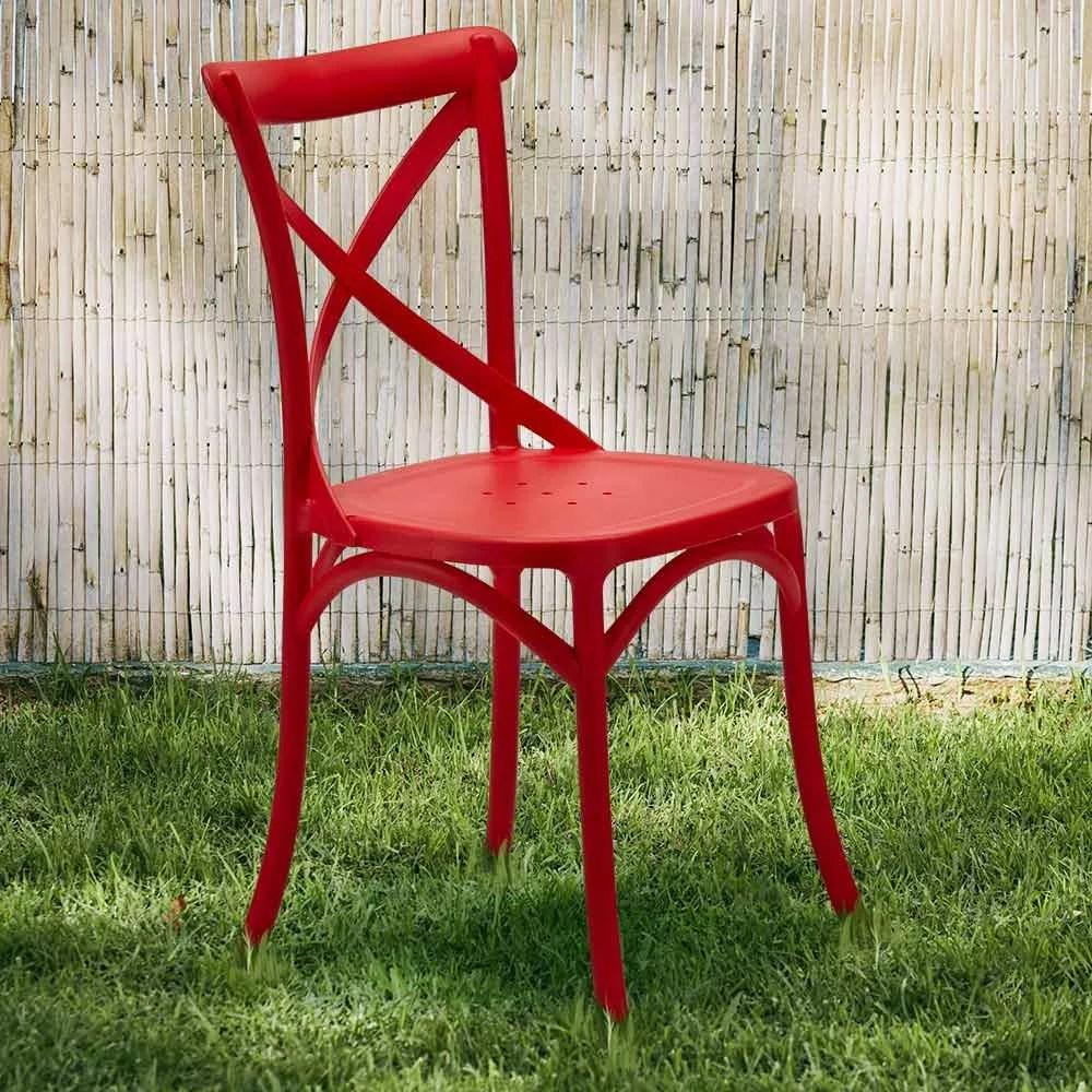 chaise en polypropylene cuisine restaurant vintage paesana cross design