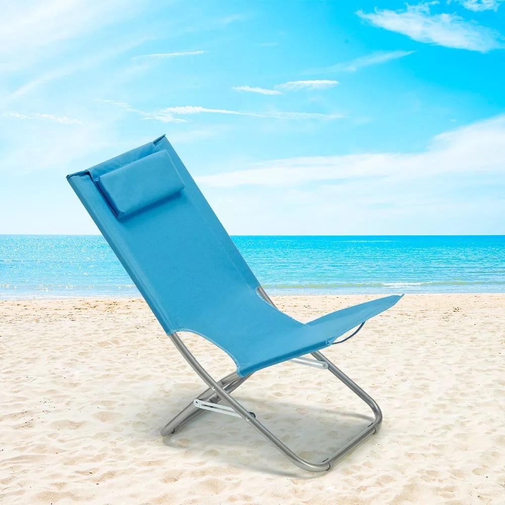 chaise longue en acier avec coussin rodeo lux pour la plage la mer et le ja