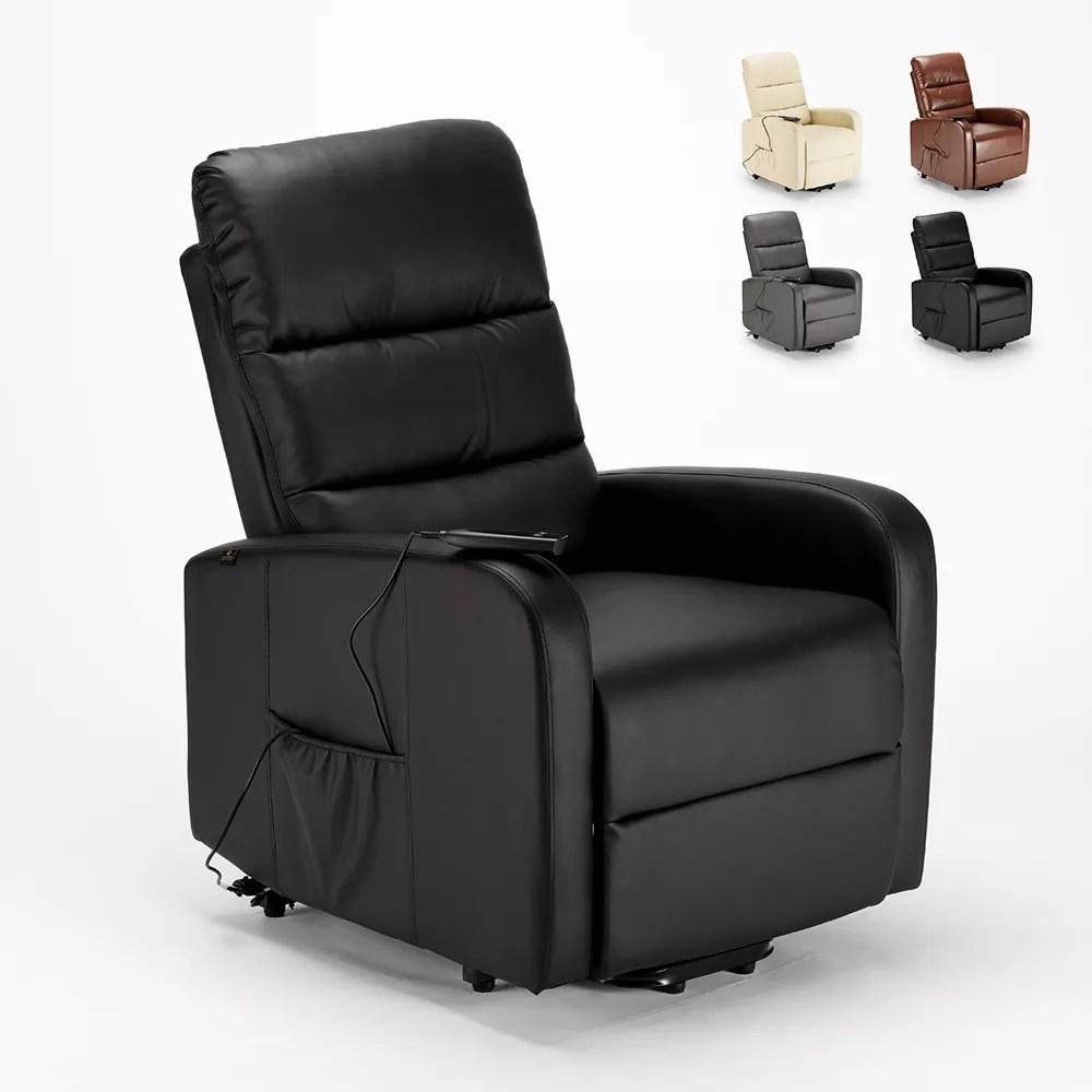 elizabeth fauteuil relax electrique inclinable avec elevateur de personnes en similicuir