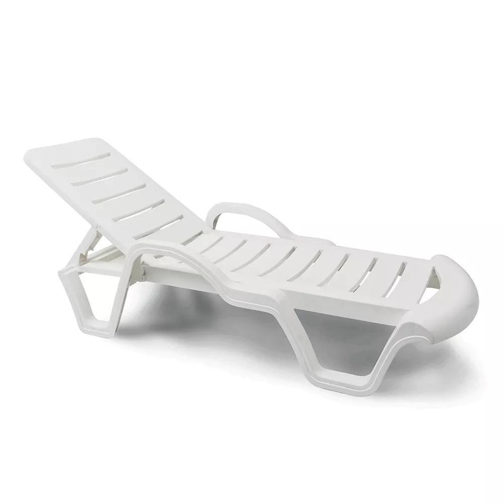 chaise longue en plastique professionnelle bain de soleil lot 18 pieces