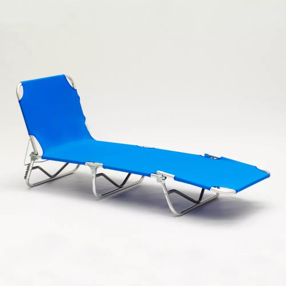 lit de plage pliant bain de soleil transat plage aluminium verona