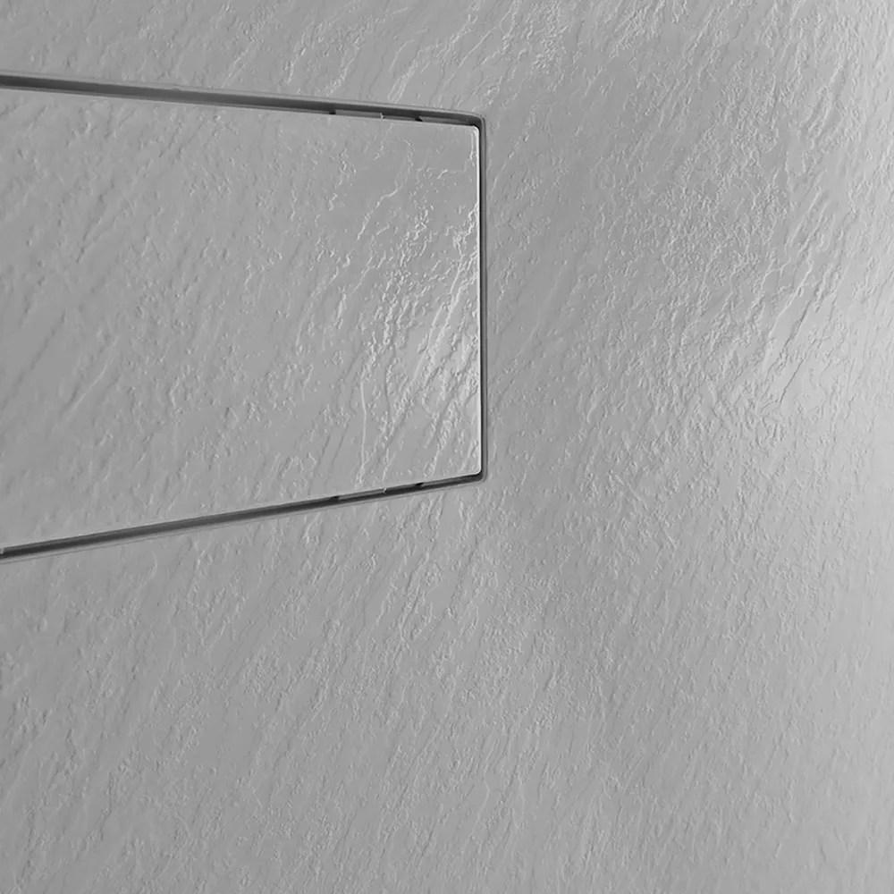 receveur de douche a l italienne rectangulaire en resine 120x80 stone
