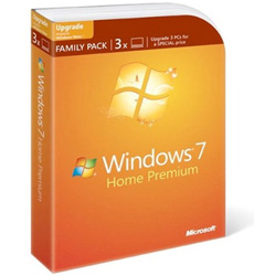 Microsoft Windows 7 Home Premium Upgrade Family Pack - Upgrade 3 PCs