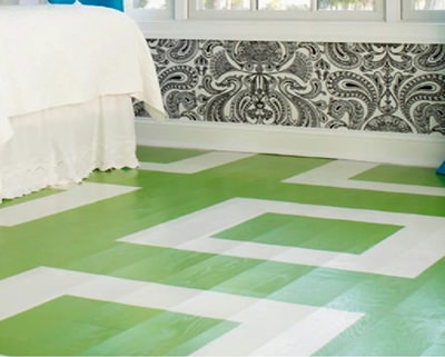 Poly Over Painted Floor