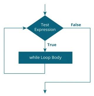 flowchart of while loop in C programming