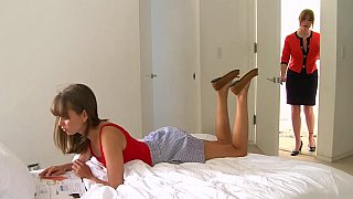 Lesbian step-mom and her cute daughter Preview Image