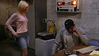 Cute blonde girl having sex at work Preview Image