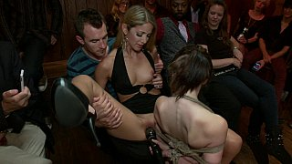 Young Sensi Pearl gets tied up and fucked in public Preview Image