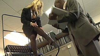 Busty blonde office_girl_gets fucked by black cock Preview Image