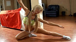 aerobic » Flexible blonde teen ariel doing aerobics Preview Image