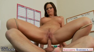Sexy teacher Syren De Mer suck and fuck a big cock Preview Image