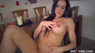 Big tits MILF finger fucks on table Preview Image