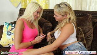 Blondes Anikka Albrite and Mia Malkova fucking in Preview Image