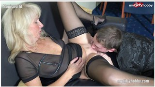 German amateur cougar fucking a_young guy Preview Image