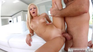 Blonde babe Candee gets her pussy filled with cum Preview Image