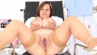 Brunette_lady_practical_nurse_teases_in_uniforms Preview Image