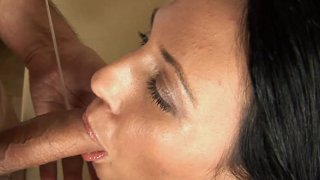 Cock Hungry Marti Spits On Hairy Cock Preview Image