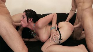Tory Lane takes one_stiff cock in her ass and the other in her mouth Preview Image