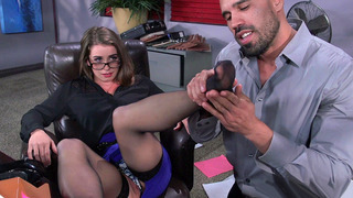 Bunny Freedom letting him massage her pretty little feet Preview Image