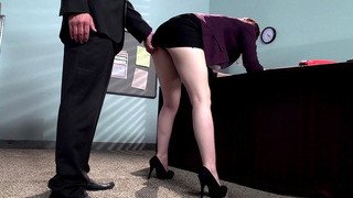 Ember Stone can't wait to fuck her boss in the office Preview Image
