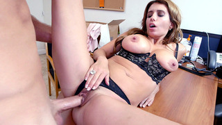 Mia Ryder in a black lingerie having sex for the first time on camera Preview Image