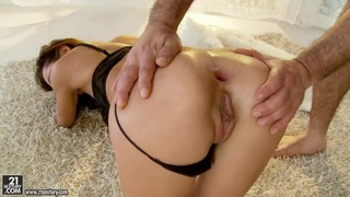 Petite Alice Romain gets assfucked hard on the carpet Preview Image