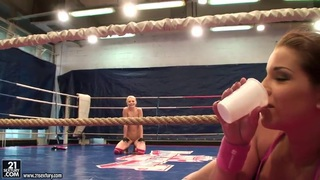 Angel Rivas and Niky Gold fighting to dominate in the backstage fighting clip Preview Image