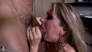 Rachel Roxx being pleased by a handsome man and his big dick Preview Image
