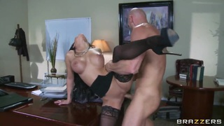 Hot brunette whore Emily B gets Johnny Sins' dick in the holes Preview Image