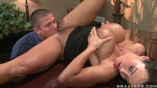 Busty babe Lisa Ann gets licked by Mick Blue in public Preview Image