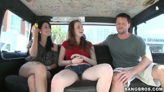 Chloe Taylor and Kimberly Wild get picked up by bus Preview Image