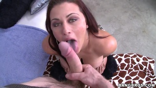 Awesome chick Carmen Ross boasts_of her enormous huge ass in front of_her mate Preview Image