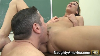 John_Strong_nails_petite_Lexxxi_Lowe_in_classroom Preview Image