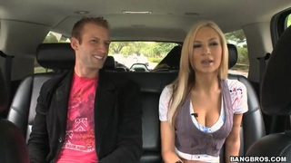 Snuggles with busty Amy Reid in the bang bus Preview Image