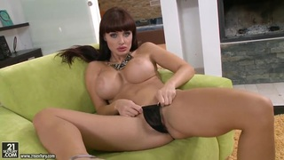 Busty brunette Aletta Ocean plays with her toys Preview Image