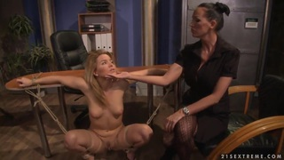 Hardcore BDSM action with_nasty lesbian girls named Mandy Bright and Salome Preview Image